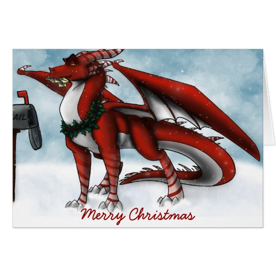 Tarjeta del dragón del navidad