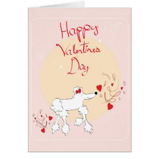 Tarjeta del el día de San Valentín con el caniche