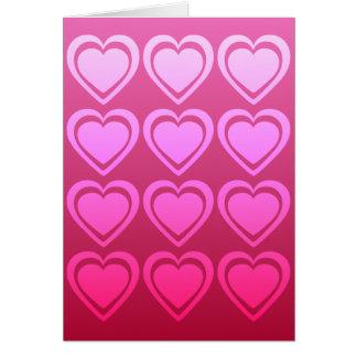 Tarjeta del el día de San Valentín de docena