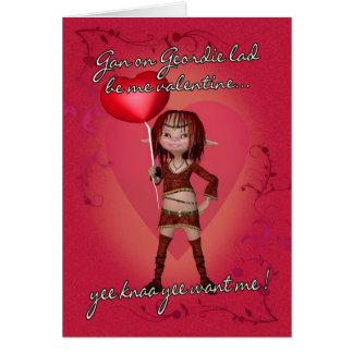 Tarjeta del el día de San Valentín de Geordie con