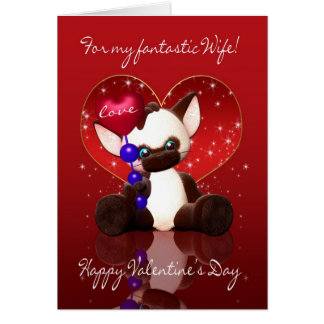Tarjeta del el día de San Valentín de la esposa -