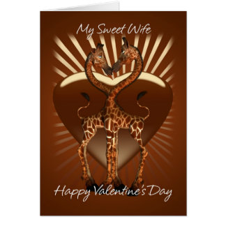 Tarjeta del el día de San Valentín de la esposa co