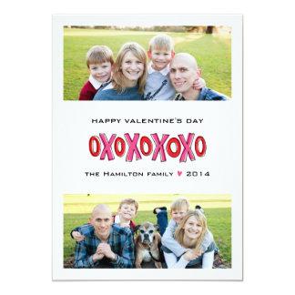 Tarjeta del el día de San Valentín de la familia Invitación 12,7 X 17,8 Cm
