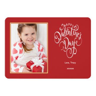 Tarjeta del el día de San Valentín de la foto de Invitación 12,7 X 17,8 Cm
