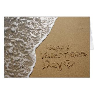 Tarjeta del el día de San Valentín de la orilla