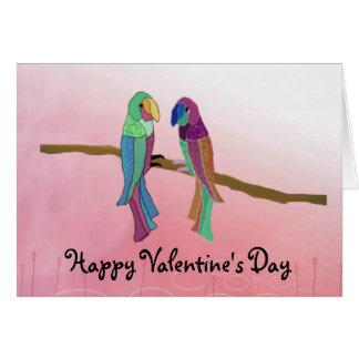 Tarjeta del el día de San Valentín de los pájaros