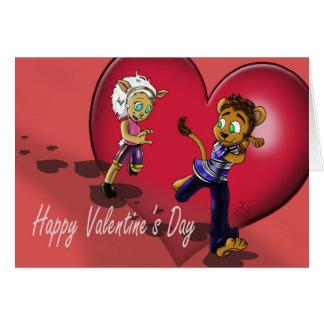 """Tarjeta del el día de San Valentín de """"nuestro"""