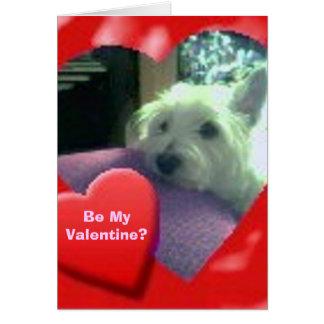 Tarjeta del el día de San Valentín de Westie