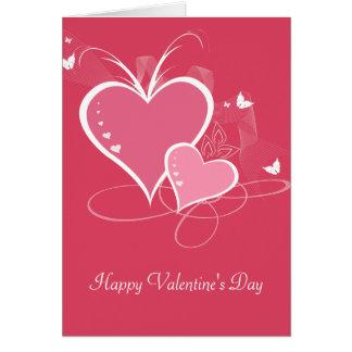 Tarjeta del el día de San Valentín del amor de dos