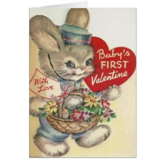 Tarjeta del el día de San Valentín del bebé del