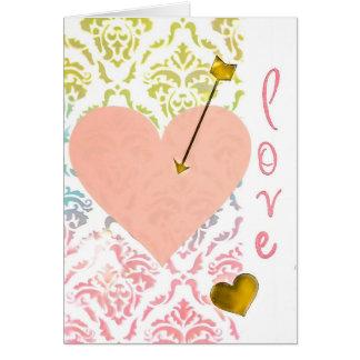 Tarjeta del el día de San Valentín del corazón