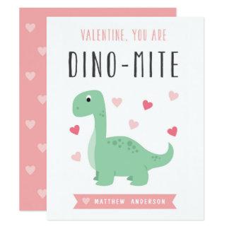 Tarjeta del el día de San Valentín del Dino-Ácaro Invitación 10,8 X 13,9 Cm