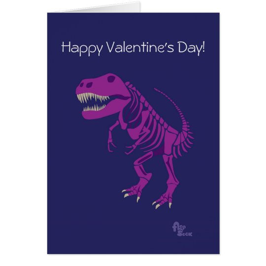 Tarjeta del el día de San Valentín del dinosaurio