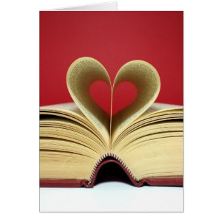 Tarjeta del el día de San Valentín del libro del