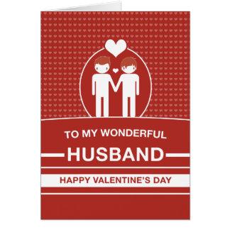 Tarjeta del el día de San Valentín del marido