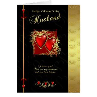 Tarjeta del el día de San Valentín del marido - la
