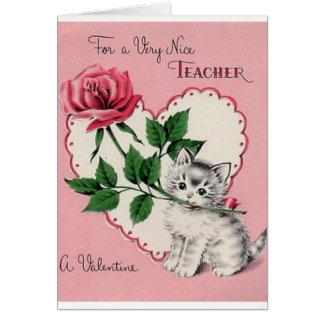 Tarjeta del el día de San Valentín del profesor