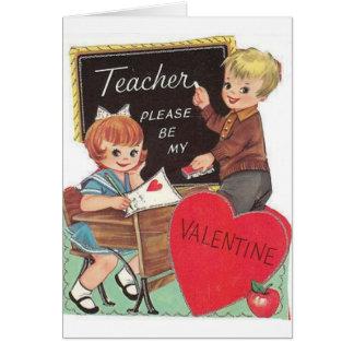 Tarjeta del el día de San Valentín del profesor de