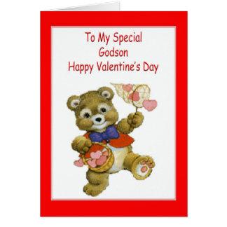 Tarjeta del el día de San Valentín para el ahijado