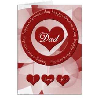 Tarjeta del el día de San Valentín para el papá