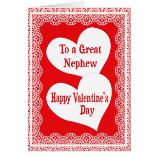 Tarjeta del el día de San Valentín para el sobrino