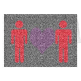 Tarjeta del el día de San Valentín para él y él