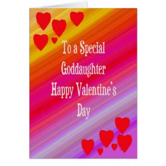 Tarjeta del el día de San Valentín para la ahijada