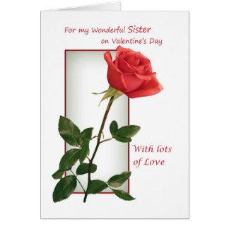 Tarjeta del el día de San Valentín para la hermana