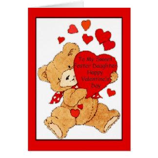 Tarjeta del el día de San Valentín para la hija ad