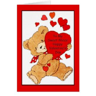 Tarjeta del el día de San Valentín para la sobrina