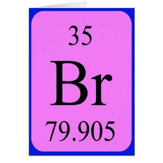 Tarjeta del elemento 35 - bromo