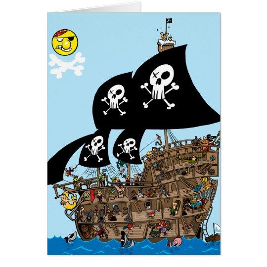 Tarjeta del escape del barco pirata