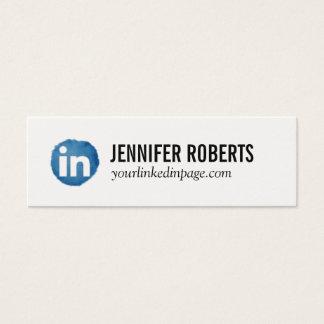 Tarjeta del establecimiento de una red de Linkedin