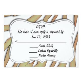 Tarjeta del estampado de animales de RSVP Invitación 8,9 X 12,7 Cm