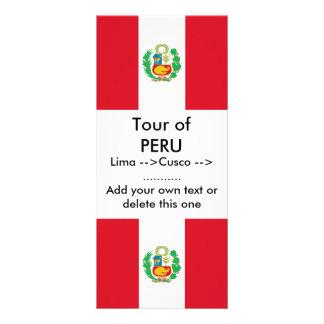 Tarjeta del estante con la bandera de Perú Lonas Publicitarias