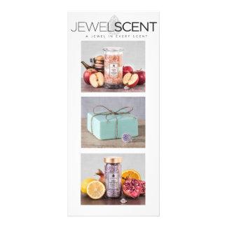 Tarjeta del estante de JewelScent Folleto Publicitario 10 X 22,8 Cm