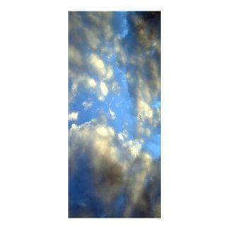 Tarjeta del estante de nubes plantilla de lona