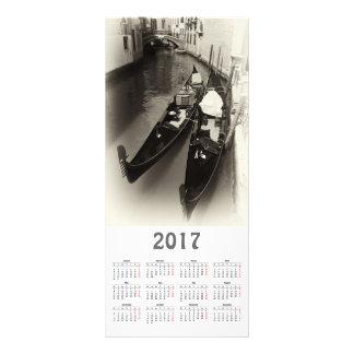 tarjeta del estante del calendario de Venecia 2017 Tarjeta Publicitaria