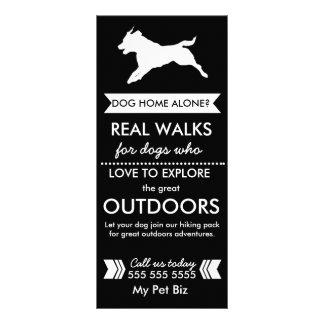 Tarjeta Publicitaria Tarjeta del estante del caminante del perro -