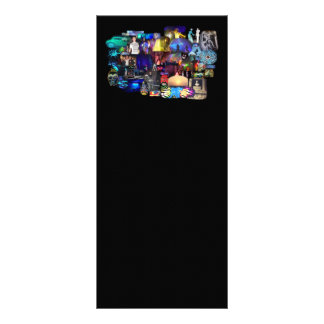 Tarjeta del estante del collage del tiempo del diseño de tarjeta publicitaria