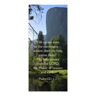 Tarjeta del estante del salmo del parque nacional