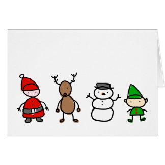 Tarjeta del estilo del niño de Cuties del navidad