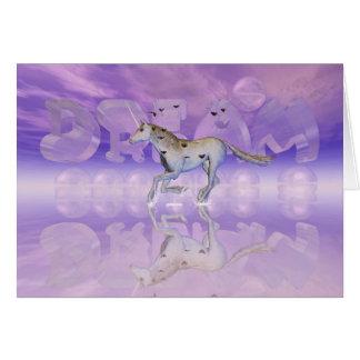 Tarjeta del estímulo, caza del unicornio su sueño