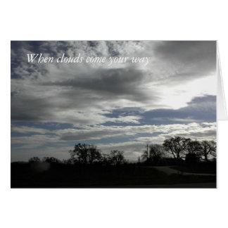 Tarjeta del estímulo: Cielo nublado sobre paisaje
