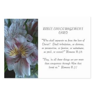 Tarjeta del estímulo de la biblia plantillas de tarjetas de visita