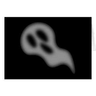 Tarjeta del fantasma de Halloween
