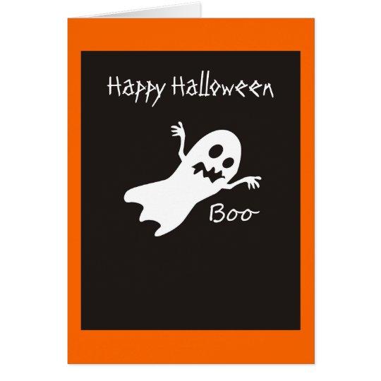 Tarjeta del fantasma del feliz Halloween