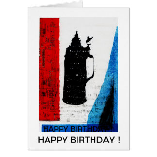 Tarjeta del feliz cumpleaños con el krug de la cer