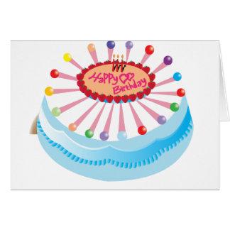 Tarjeta del feliz cumpleaños con la torta