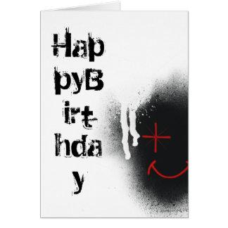 Tarjeta del feliz cumpleaños de la cara del salpic